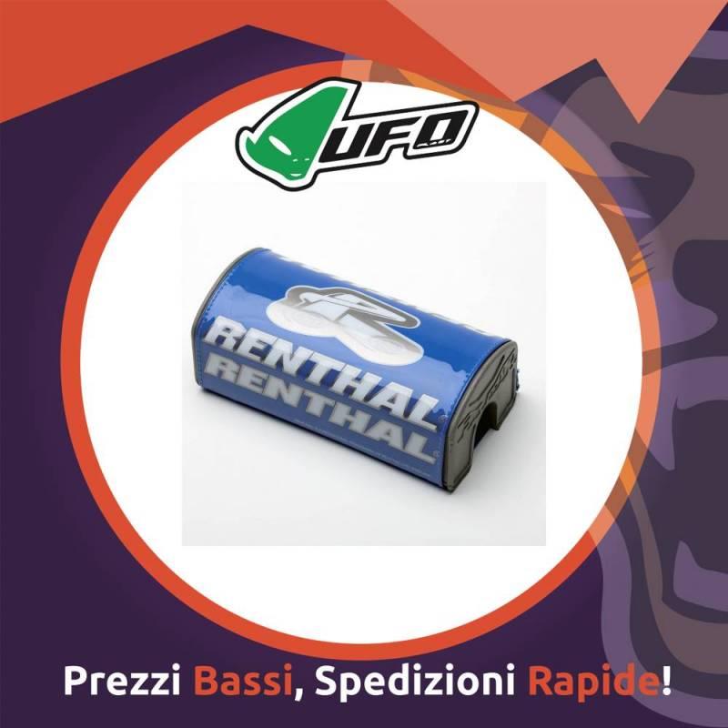 Paracolpo Manubrio Fatbar Pads blue Renthal per Motocross