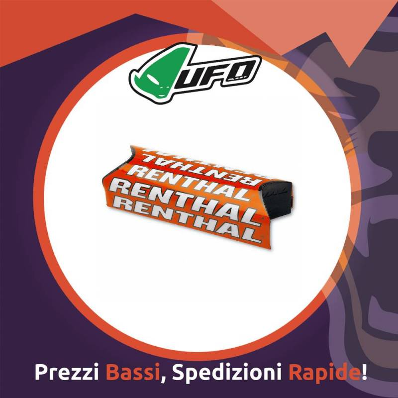 Paracolpo Manubrio Fatbar Pads Team Issue orange Renthal per Motocross