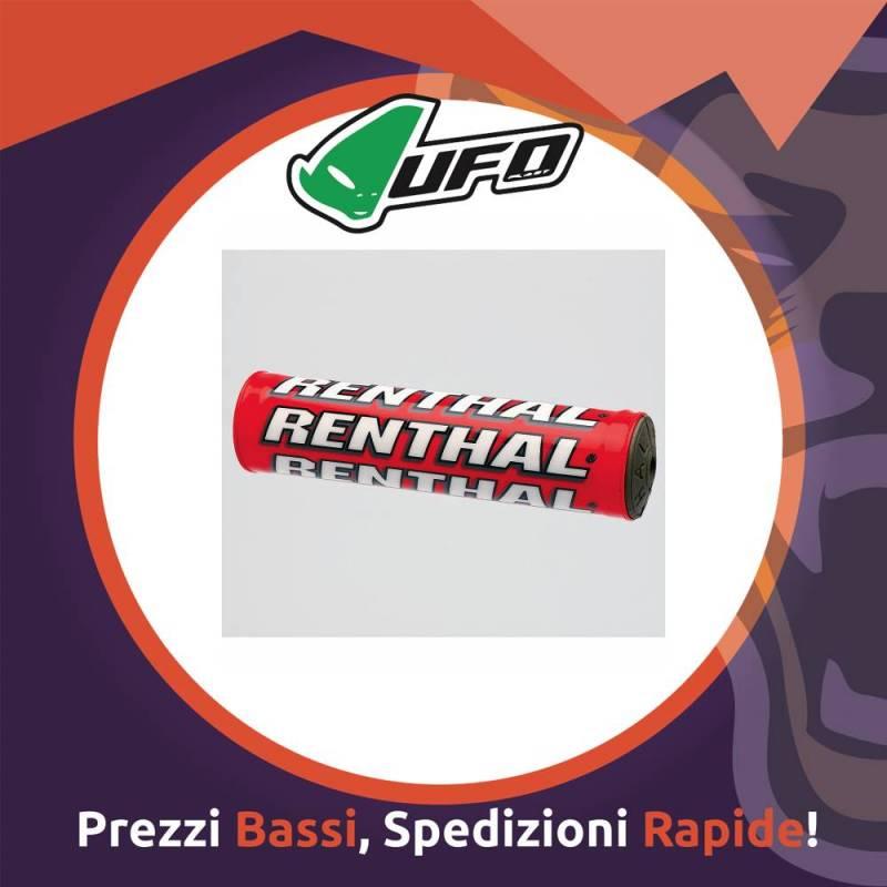 Paracolpo Manubrio Mini Pads SX red Renthal per Motocross