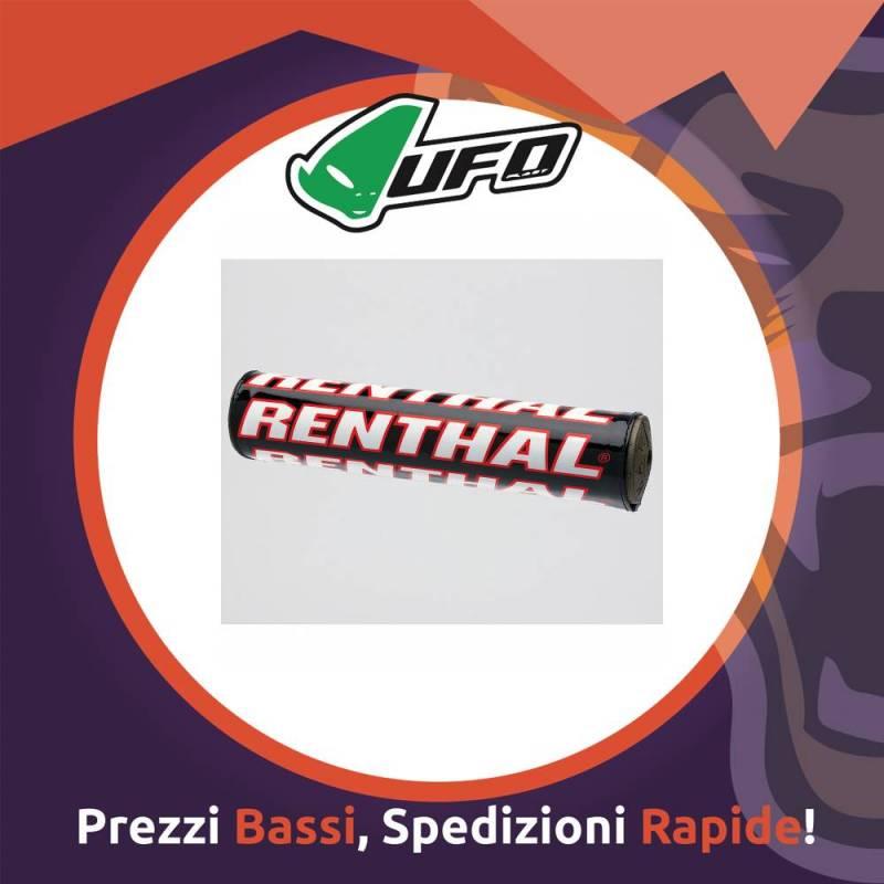 Paracolpo Manubrio Bar Pads SX black/red Renthal per Motocross