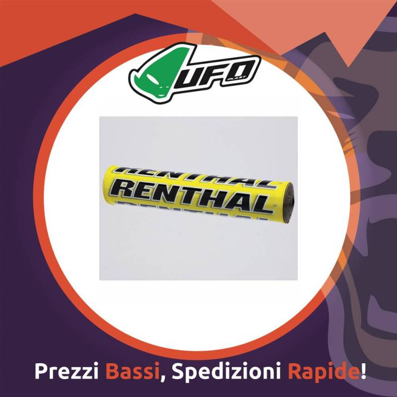 Paracolpo Manubrio Bar Pads SX yellow Renthal per Motocross
