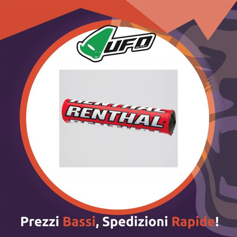 Paracolpo Manubrio Bar Pads SX red Renthal per Motocross