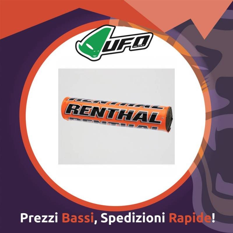 Paracolpo Manubrio Bar Pads SX orange Renthal per Motocross