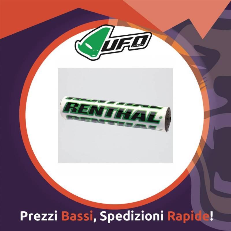 Paracolpo Manubrio Bar Pads SX white/green Renthal per Motocross