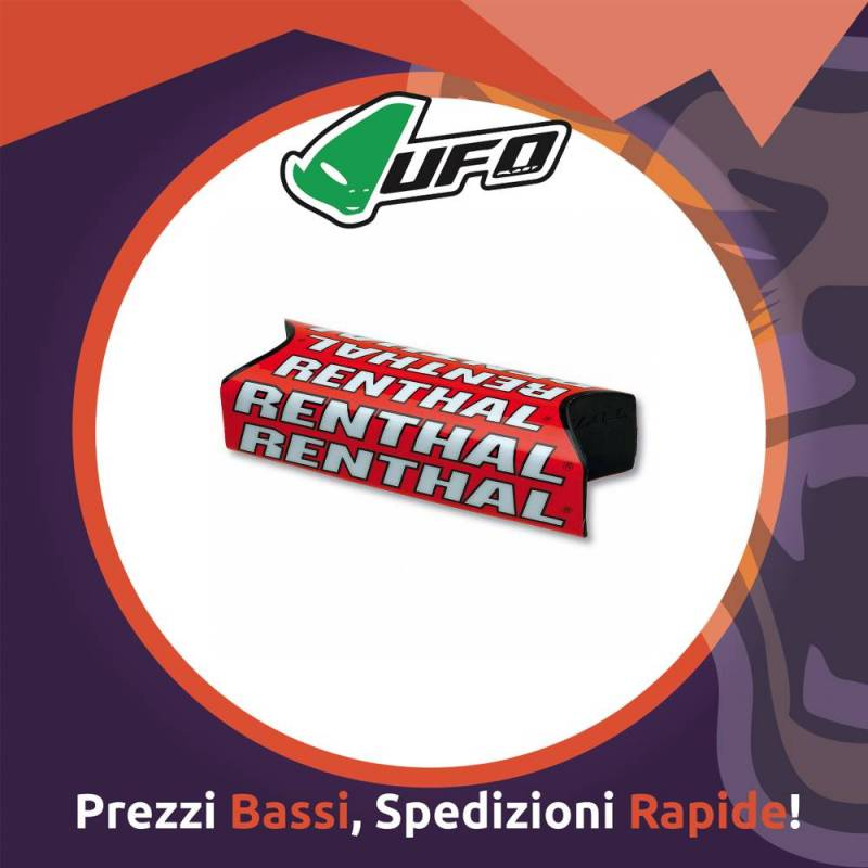 Paracolpo Manubrio Fatbar Pads Team Issue red Renthal per Motocross