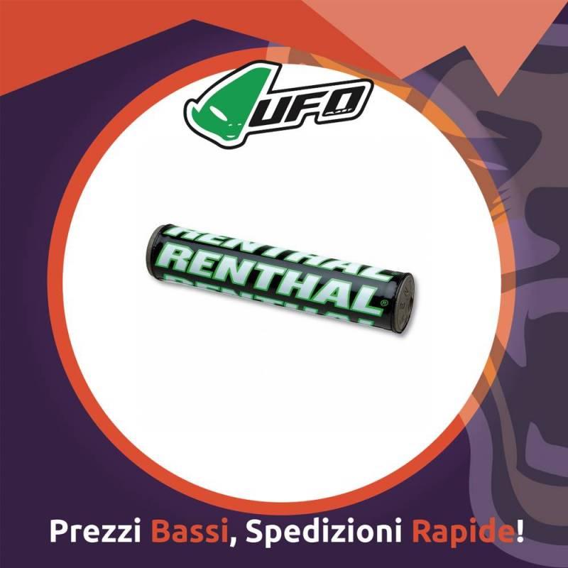Paracolpo Manubrio Bar Pads SX black/white/green Renthal per Motocross