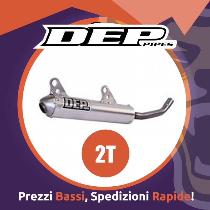 Silenziatore motocross ENDURO DEP per HUSABERG 125 TE dal 2011 al 2014 specifico per DEPKT125A